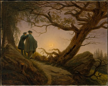 """""""Two Men Contemplating the Moon"""""""