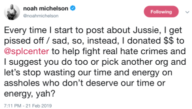 Noah Michelson Tweet